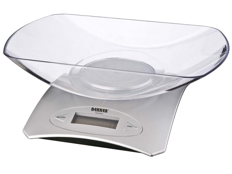 Весы кухонные Bekker BK-9103 электронные серебристый