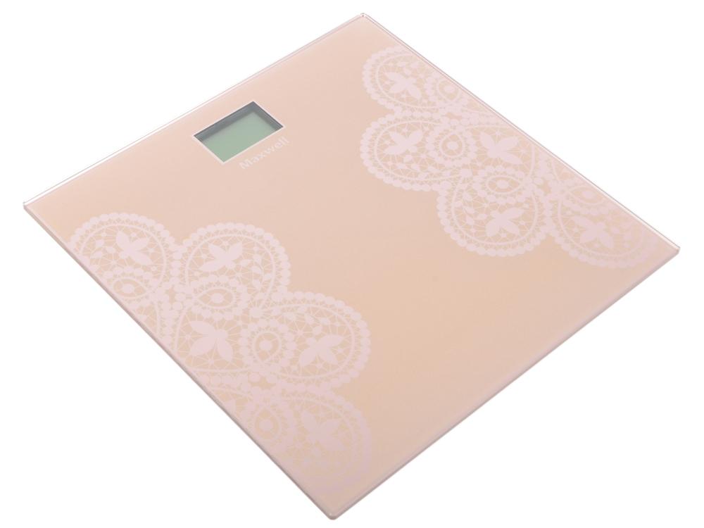 Весы напольные Maxwell MW-2672 PK розовый рисунок цена