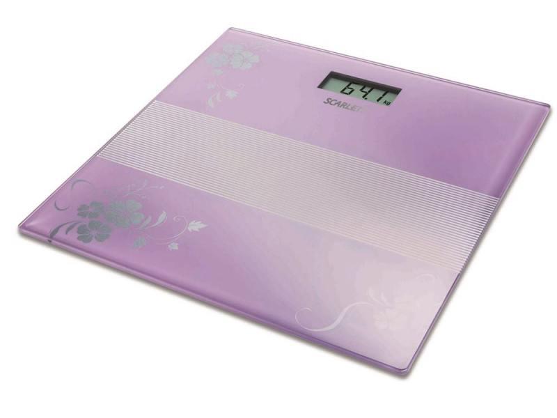 Весы напольные Scarlett SC-BS33E060 фиолетовый весы scarlett sc bs33e060 sc bs33e060