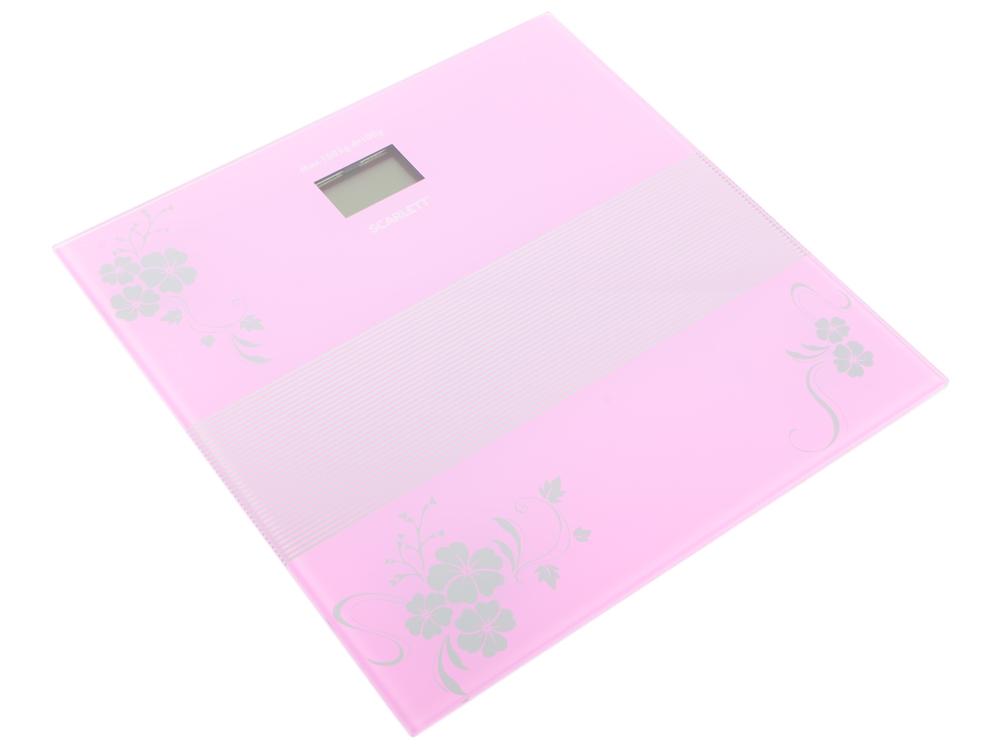 Весы напольные Scarlett SC-BS33E060 фиолетовый весы напольные электронные scarlett sc bs33e060