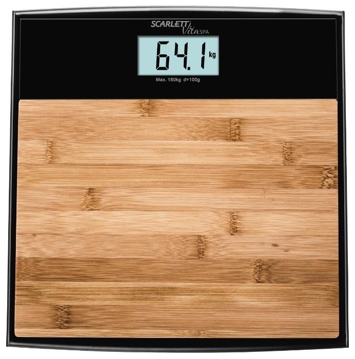 Весы напольные Scarlett SC-BS33E064 бамбук коричневый рисунок весы scarlett sc bs33e064