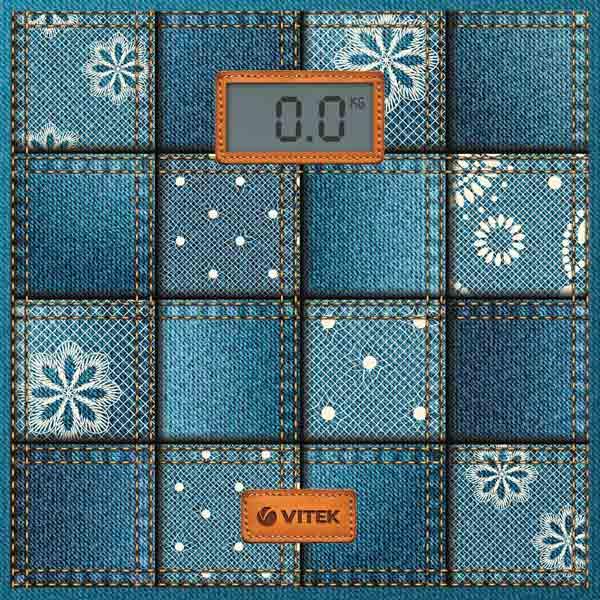 Весы напольные Vitek VT-1971 B синий весы vitek vt 1961 b