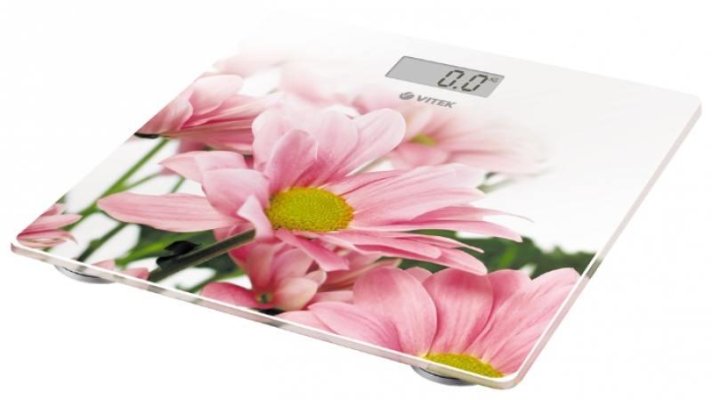 цена на Весы напольные Vitek VT-8051(W) белый рисунок