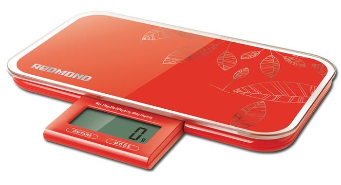 Весы кухонные Redmond RS-721 электронные красный стоимость