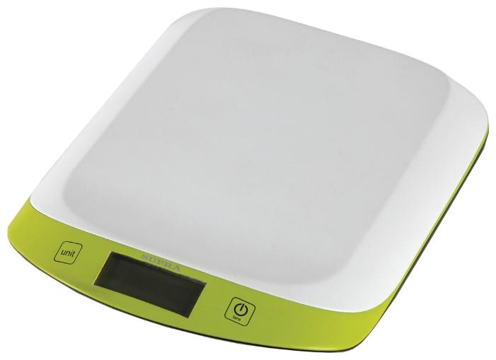 Весы кухонные Supra BSS-4098 зелёный белый цена и фото