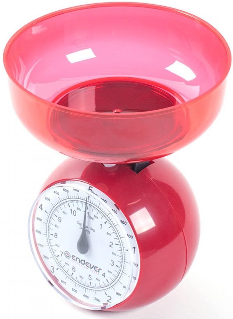 Весы кухонные ENDEVER Skyline KS-516 красный цена и фото