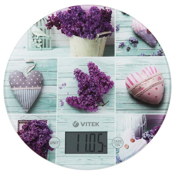 цена на Весы кухонные Vitek VT-2426L рисунок