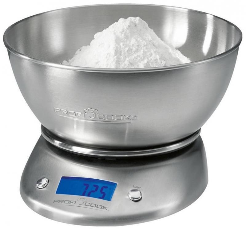 Весы кухонные Profi Cook PC-KW 1040 серебристый