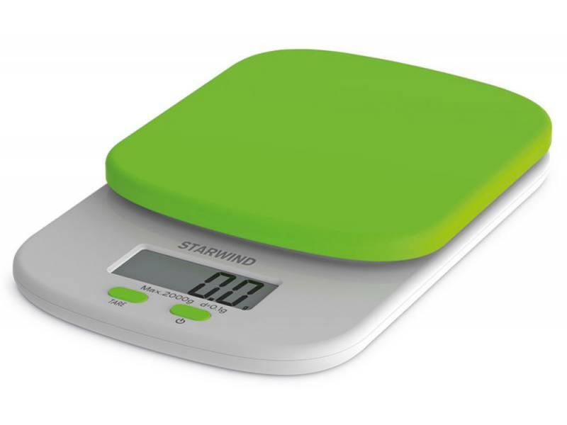 Весы кухонные StarWind SSK2155 зелёный весы starwind весы напольные starwind ssp2355