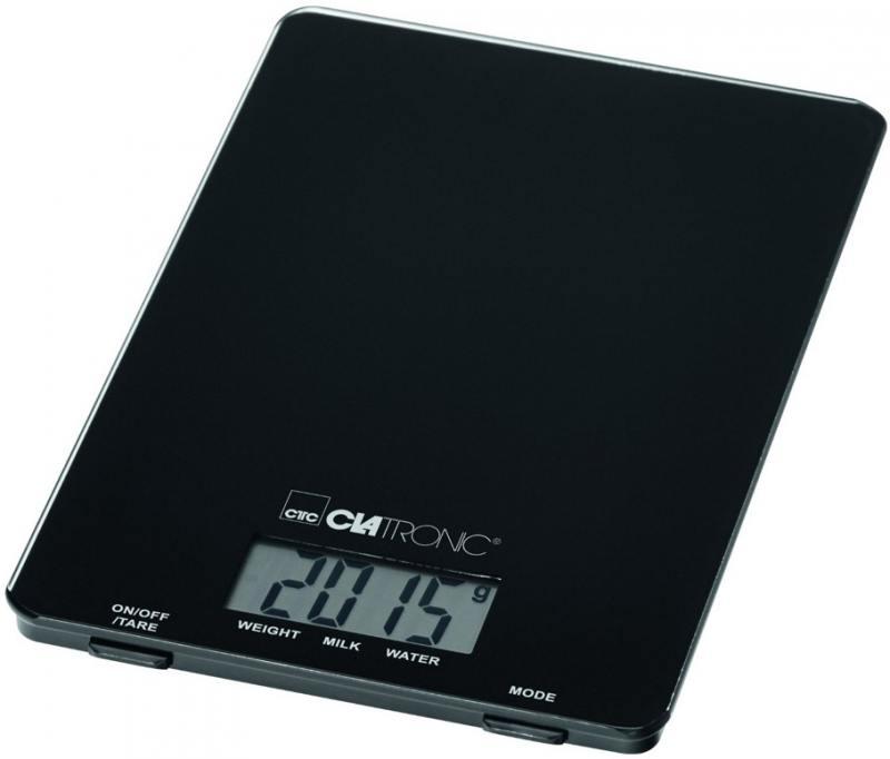 Весы кухонные Clatronic KW 3626 чёрный ннх шапка
