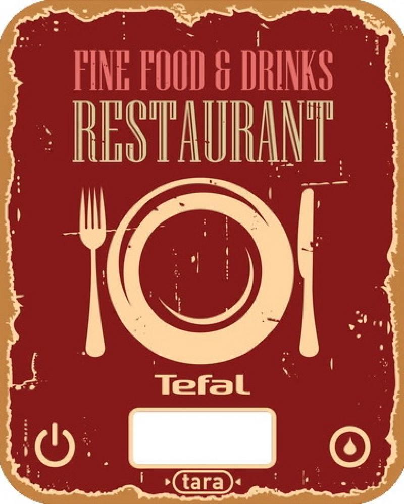 Весы кухонные Tefal BC5104V1 красный рисунок кухонные весы tefal lk 2000 v0