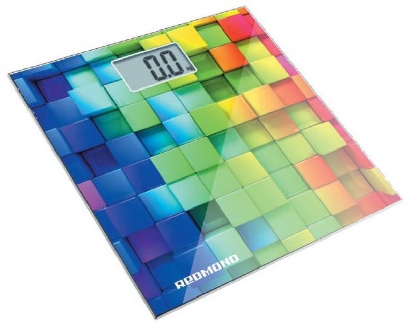 Весы напольные Redmond RS-708 белый/кубики весы напольные электронные redmond rs 729