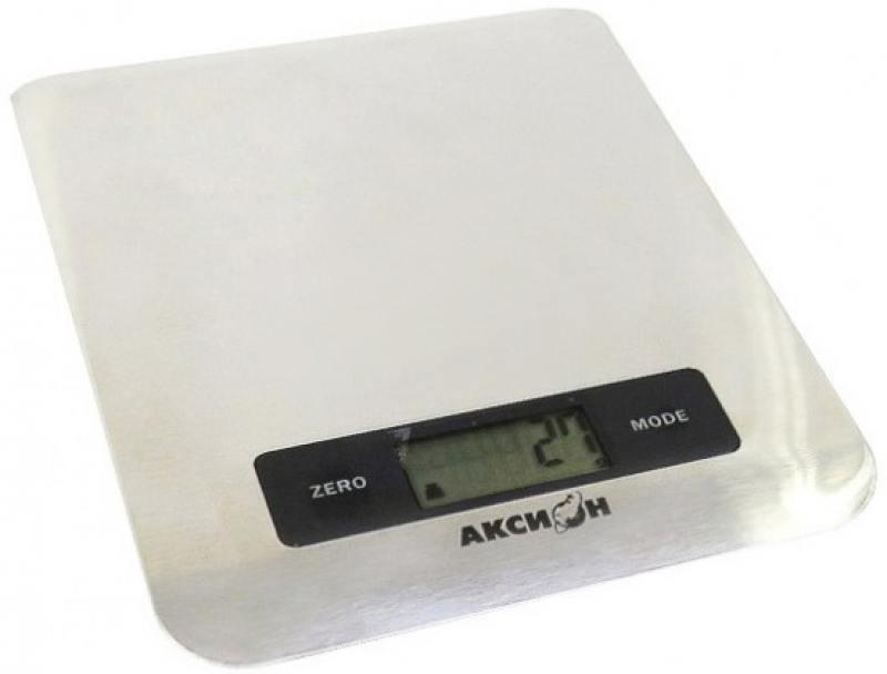 Весы кухонные Аксион ВКЕ-22 серебристый электромясорубка аксион м 33 04 230 вт белый
