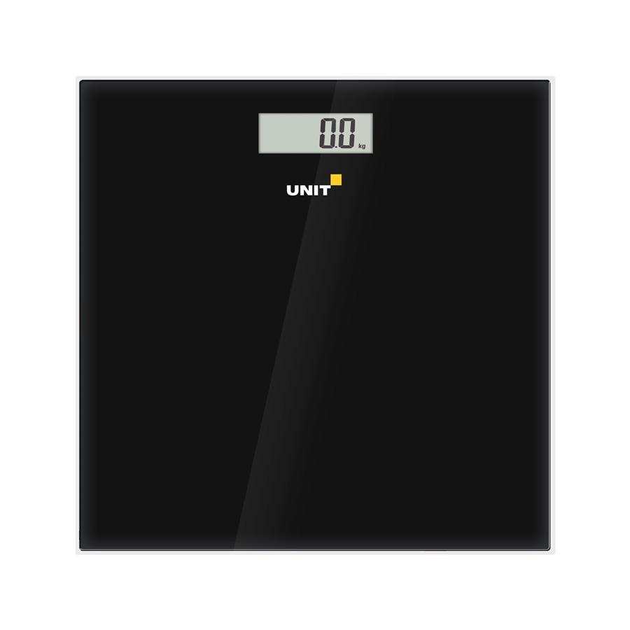 Весы напольные электронные UNIT UBS-2052, стекло, без рисунка, 150кг. 100гр. (Цвет: Чёрный) весы напольные tefal pp1061v0 premiss white стекло до 150кг