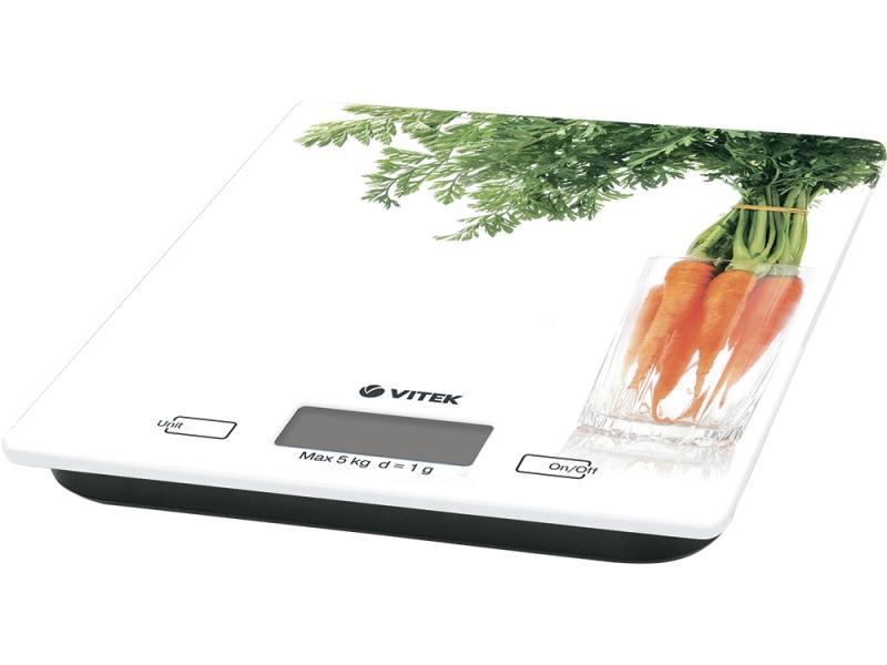Весы кухонные Vitek VT-2418-W белый кухонные весы vitek кухонные весы vitek vt 8018 w
