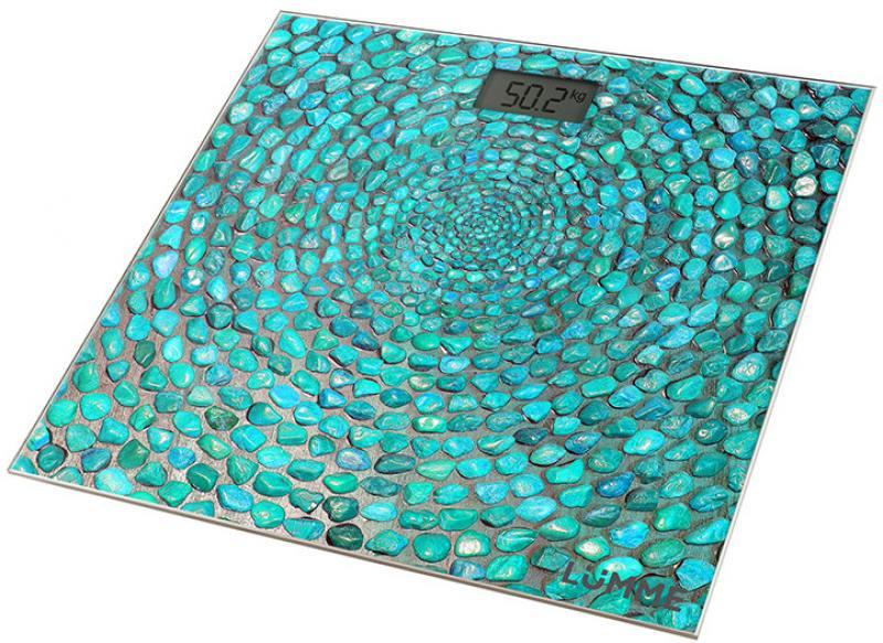цена на Весы напольные Lumme LU-1329 голубая бирюза