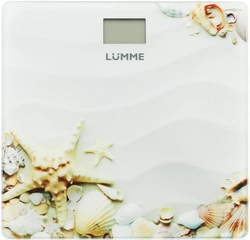 цена на Весы напольные Lumme LU-1328 рисунок Морской пляж
