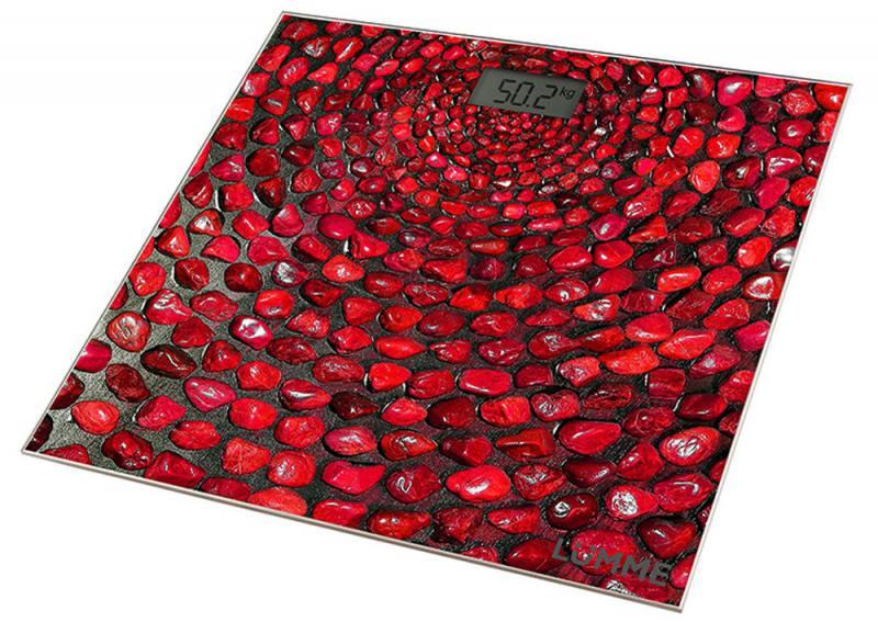 цена на Весы напольные Lumme LU-1329 красный коралл