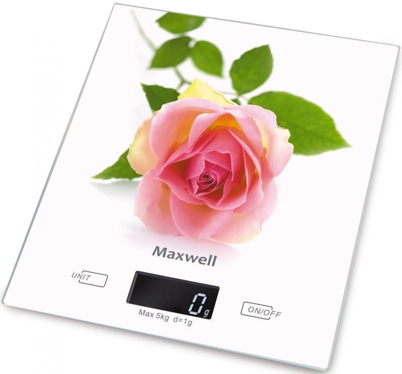 Весы кухонные Maxwell MW-1476(W) белый рисунок кофемашина delonghi ecam 45 760 w белый