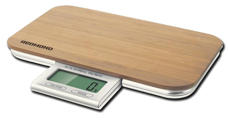 Весы кухонные Redmond RS-721 электронные рисунок дерево бежевый
