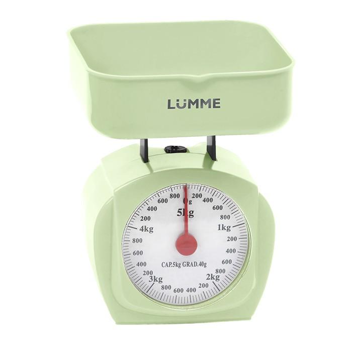 Механические кухонные весы Lumme LU-1302 зелёный весы кухонные lumme lu 1326 фиолетовый