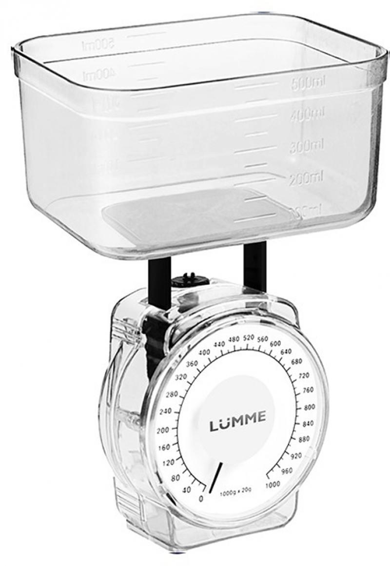 Весы кухонные Lumme LU-1301 белый жемчуг