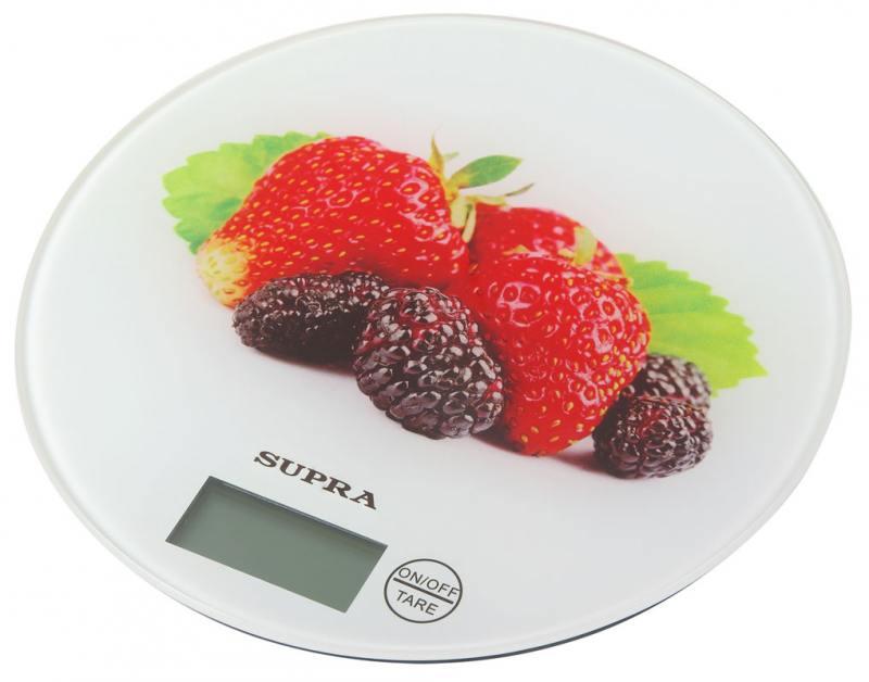 где купить Весы кухонные Supra BSS-4601 белые с рисунком по лучшей цене