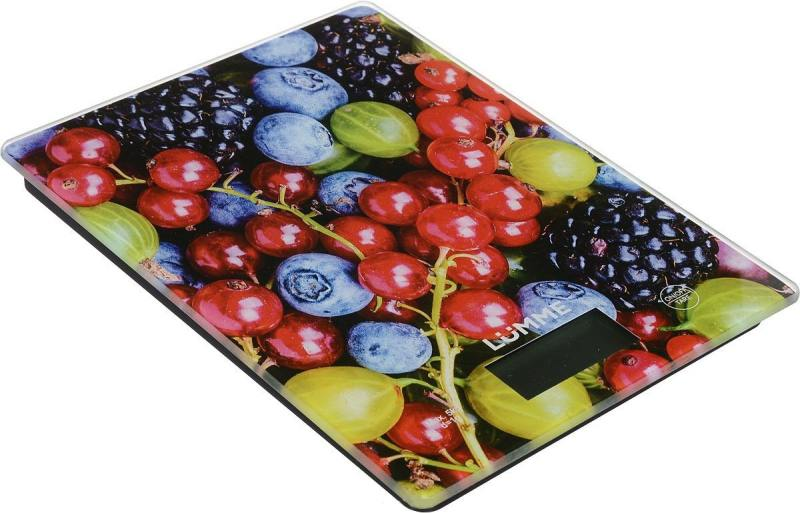 Весы кухонные Lumme LU-1340 рисунок ягодный микс