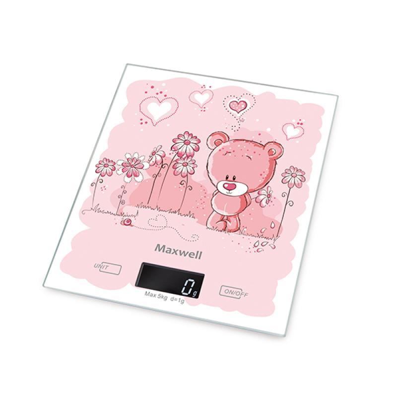 Весы кухонные Maxwell 1477-MW(PK) розовый цена