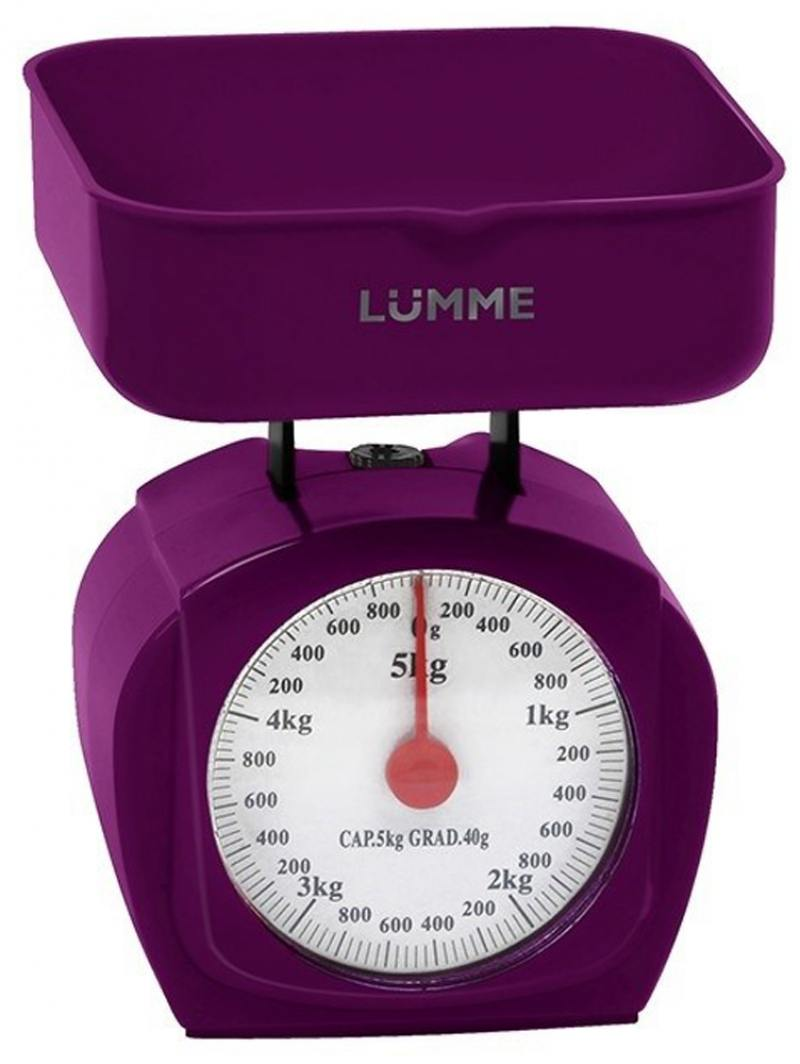 Механические кухонные весы Lumme LU-1302 фиолетовый чароит фен lumme lu 1043 1400вт фиолетовый чароит
