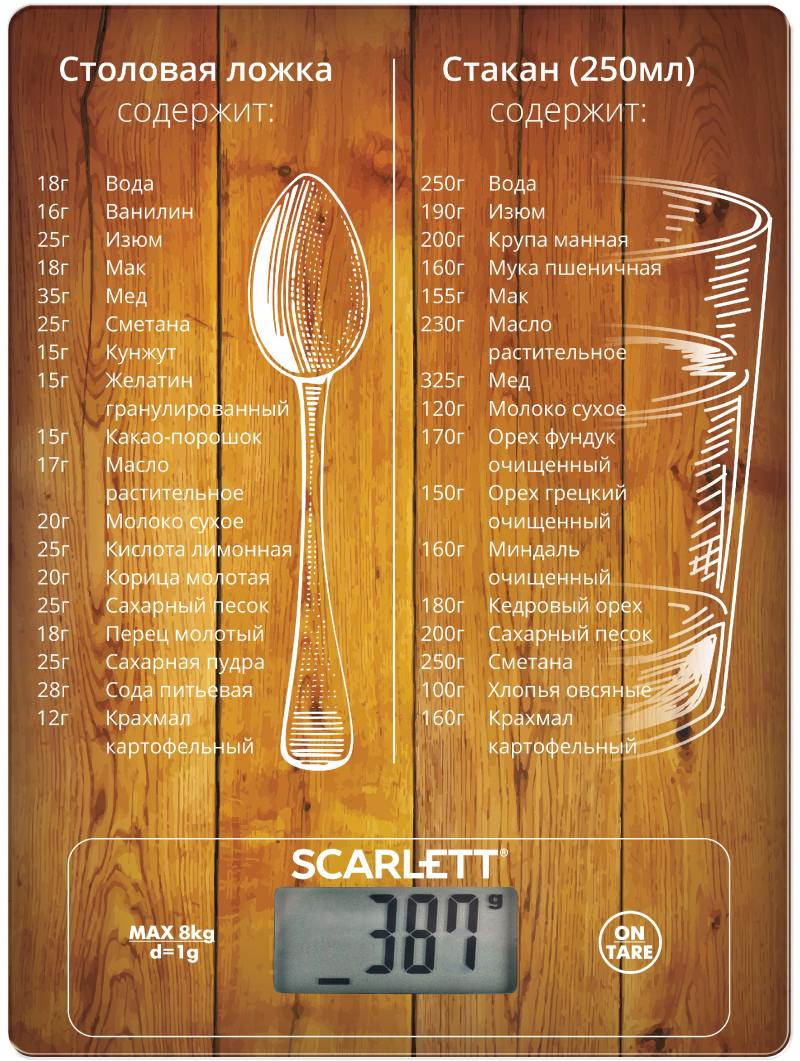 Весы кухонные Scarlett SC-KS57P19 коричневый весы кухонные scarlett sc ks57p31