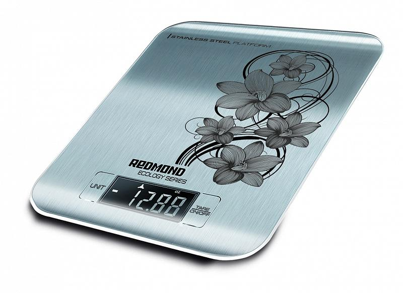 Весы кухонные Redmond RS-M737 электронные рисунок серебристый весы кухонные электронные redmond rs 724