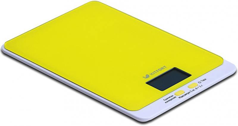 Весы кухонные KITFORT KT-803-4 жёлтый