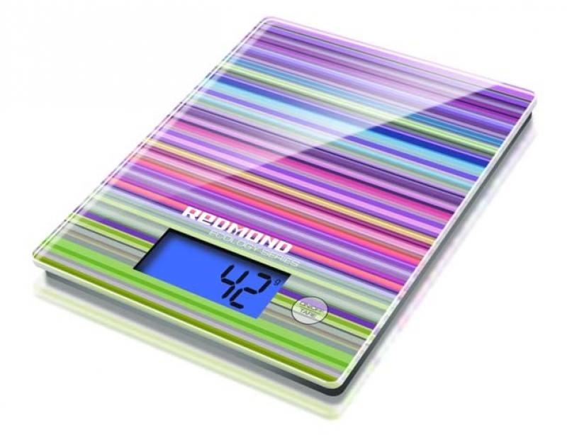 Весы кухонные Redmond RS-736 электронные рисунок полоски весы кухонные redmond rs 736 рисунок