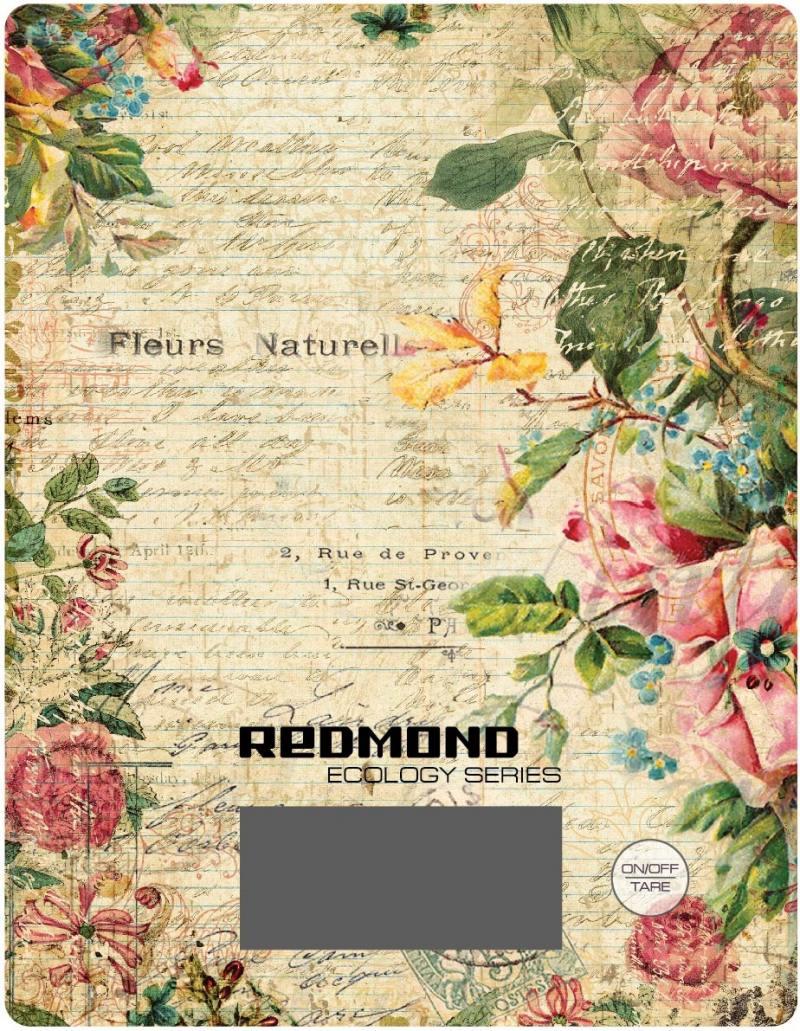 Весы кухонные Redmond RS-736 рисунок цветы кухонные весы redmond rs 736 специи