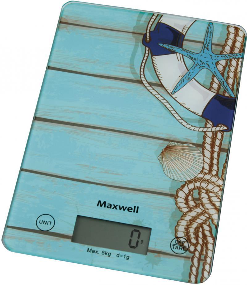Весы кухонные Maxwell MW-1473(B) весы кухонные maxwell mw 1473 b голубой рисунок