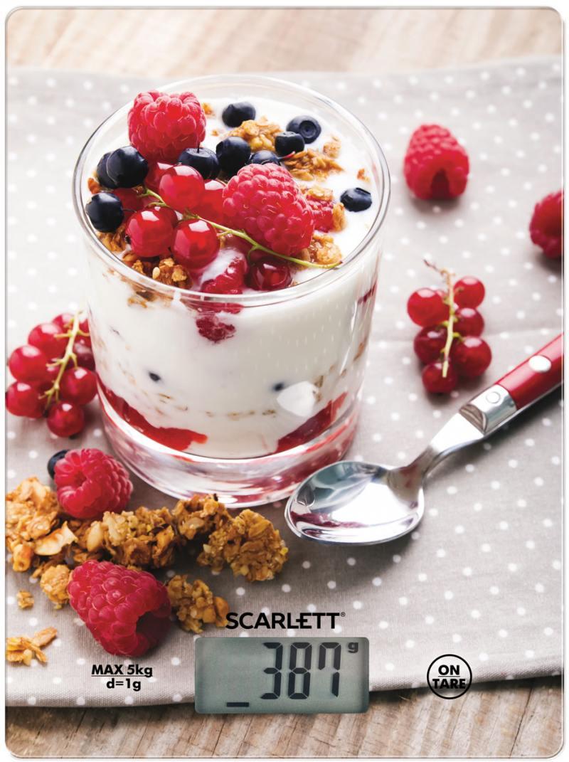 Весы кухонные Scarlett SC-KS57P22 разноцветный рисунок scarlett sc ks57p22 healthy breakfast весы кухонные