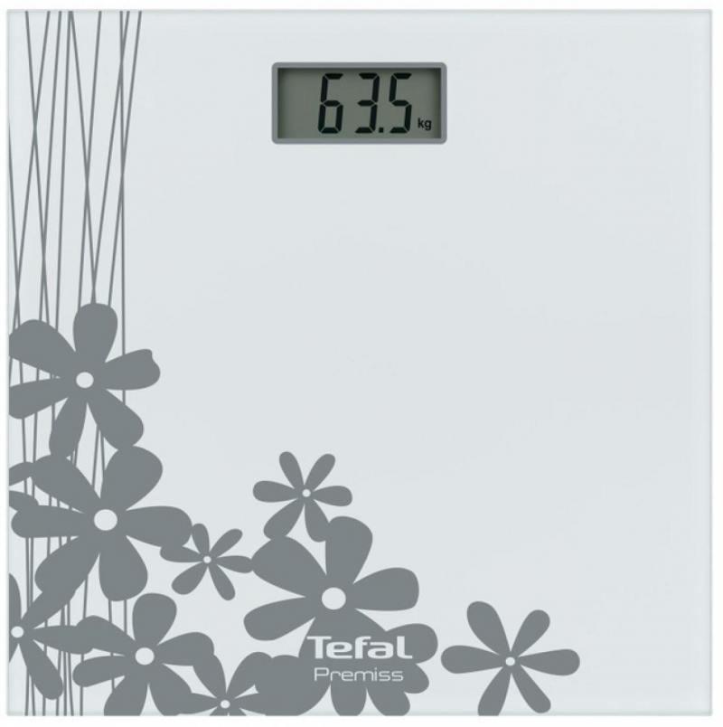Весы напольные Tefal Premiss Flower White PP1070 серый рисунок весы напольные tefal pp1070 premiss flower white