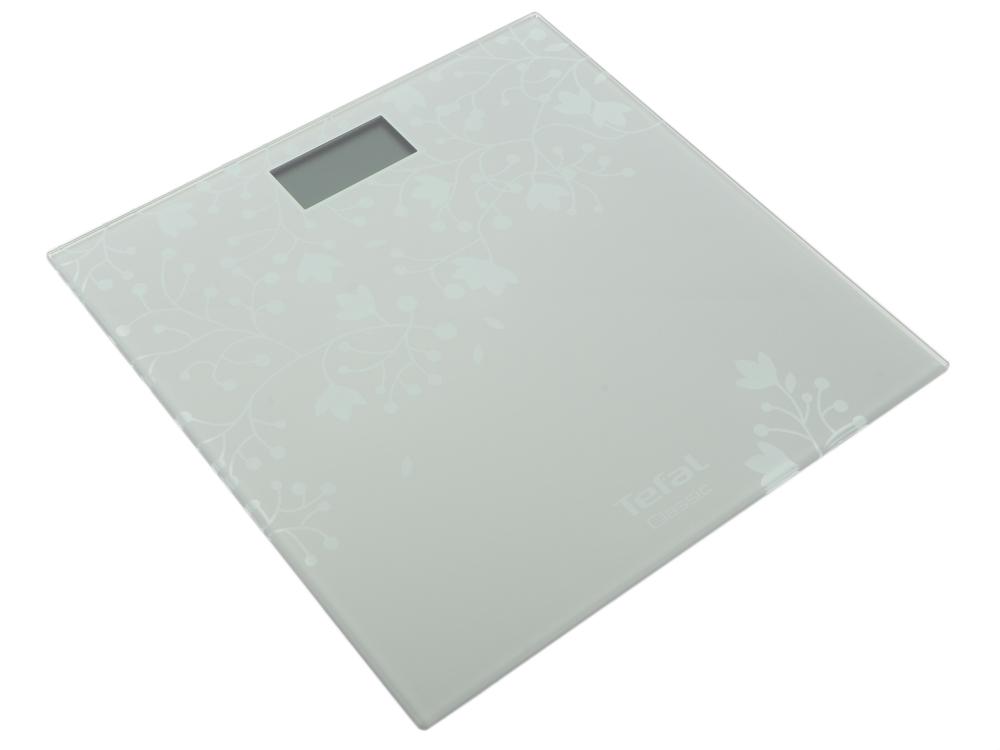 Весы напольные Tefal PP1140V0 серебристый весы напольные tefal pp1070 premiss flower white