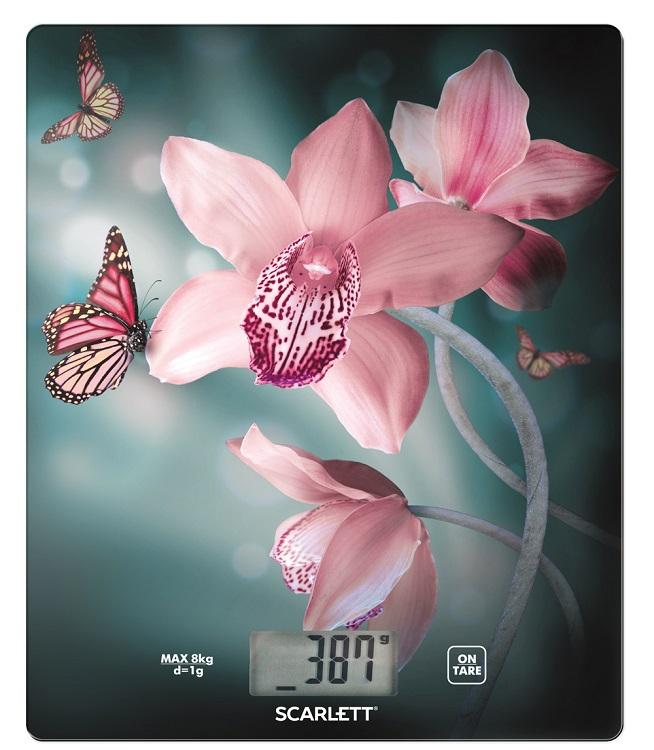 Весы кухонные электронные Scarlett SC-KS57P31 рисунок/орхидея весы кухонные scarlett sc ks57p31