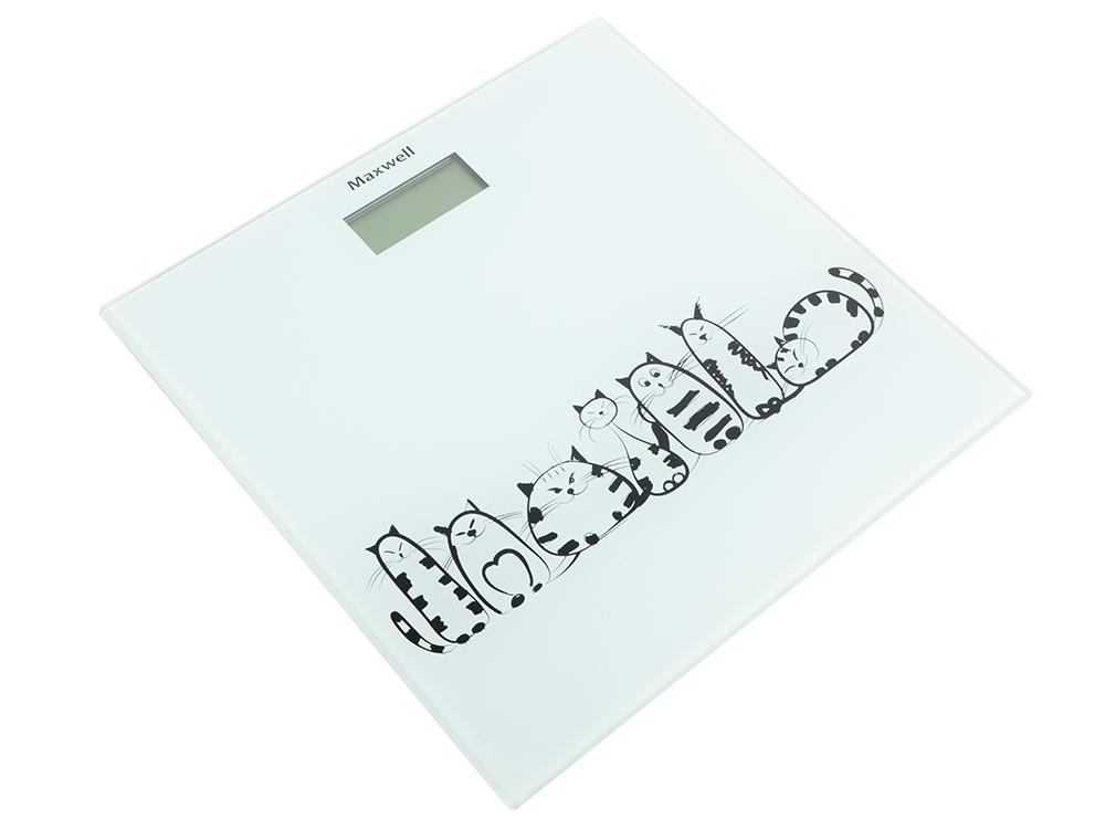 Весы напольные Maxwell MW-2675 W белый рисунок