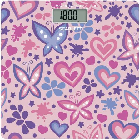Весы напольные Scarlett SC-BS33E092 розовый рисунок