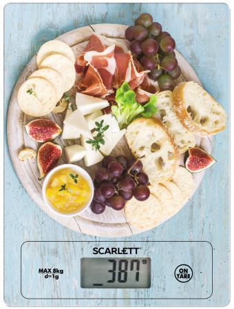 Весы кухонные Scarlett SC-KS57P25 рисунок/деликатесы весы кухонные scarlett sc ksd57p03 белый рисунок