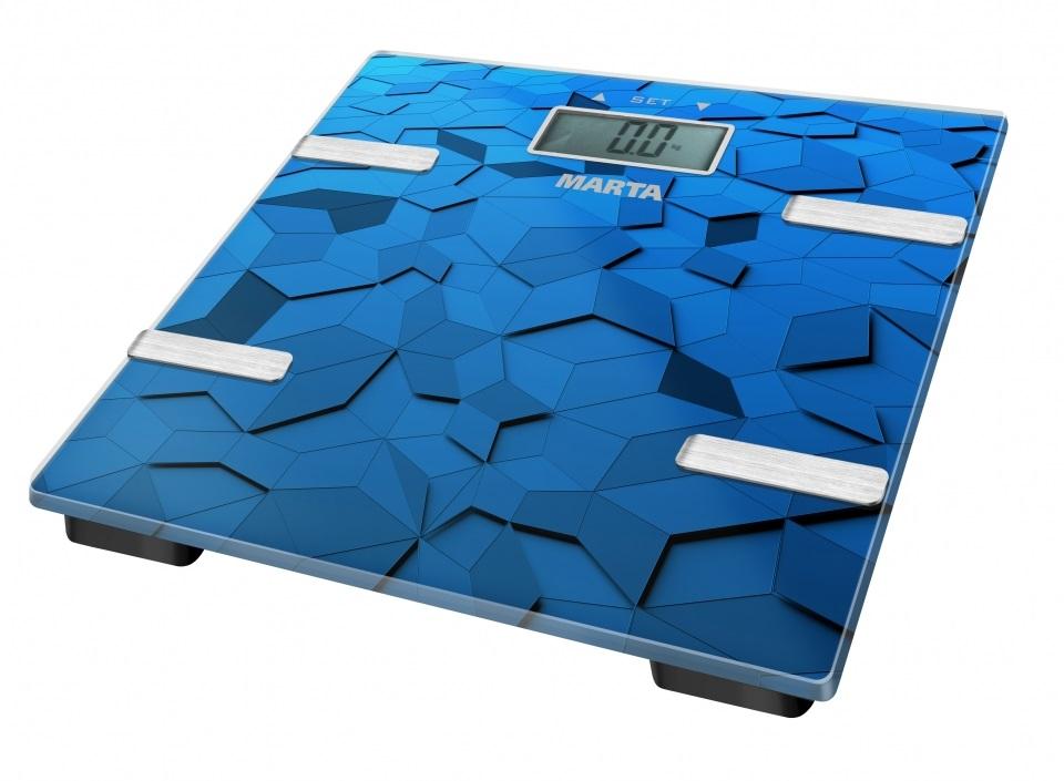 Весы напольные Marta MT-1675 синий сапфир мультиварка marta mt 4314 темный агат