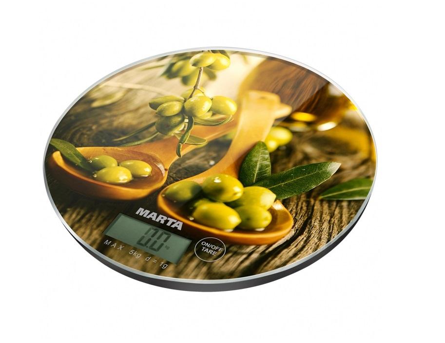 Весы кухонные Marta MT-1635 олива мультиварка marta mt 4314 темный агат