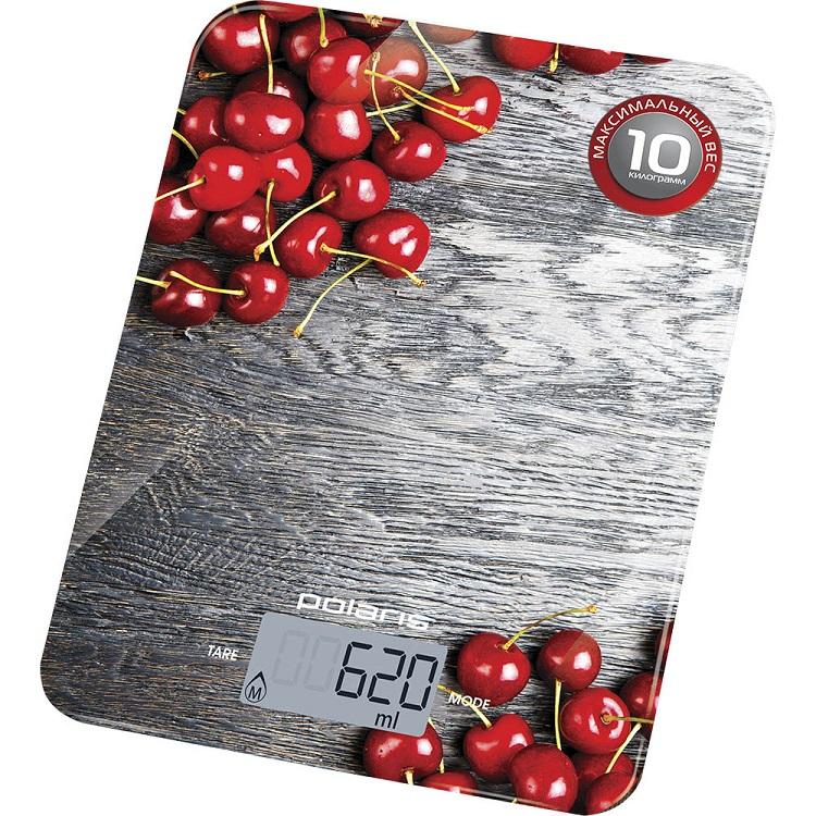 Весы кухонные эектронные Polaris PKS 1046DG Cherry