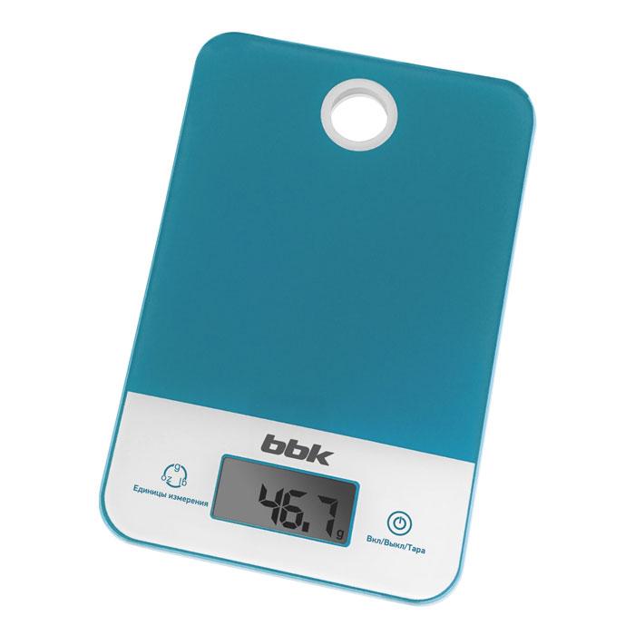 Электронные кухонные весы BBK KS109G бирюзовый
