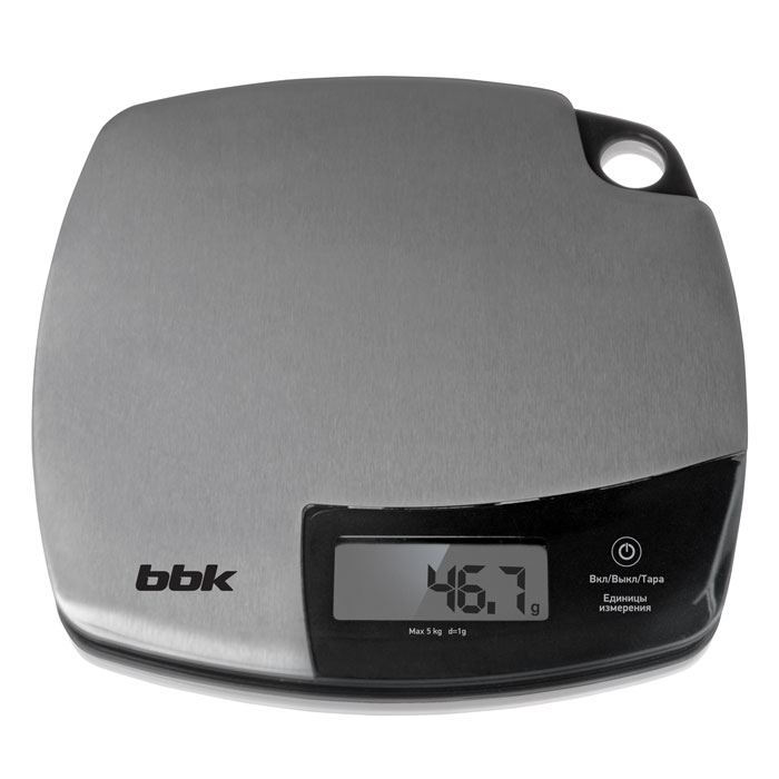 Электронные кухонные весы BBK KS153M нержавеющая сталь/черный