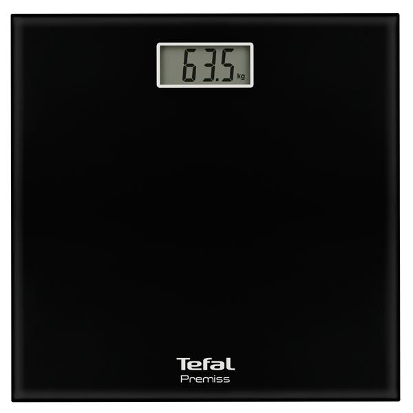 Весы напольные Tefal PP 1060V0 Premiss black 150 кг, стекло