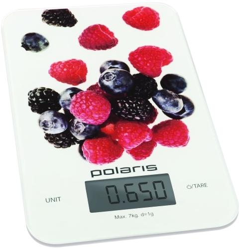 Весы кухонные Polaris PKS 0740DG, макс.вес 7кг, белый/рисунок весы кухонные polaris pks 0741dg italy белый рисунок